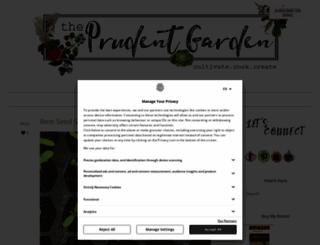 theprudentgarden.com screenshot
