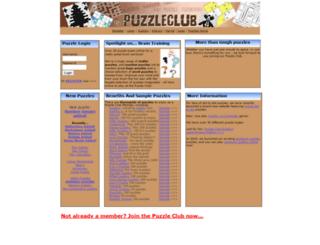thepuzzleclub.com screenshot