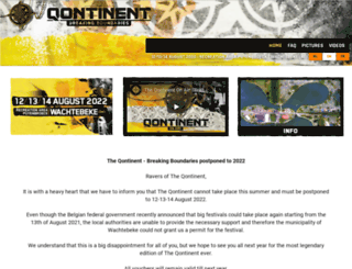 theqontinent.be screenshot