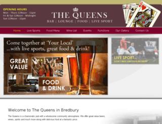 thequeensbredbury.com screenshot