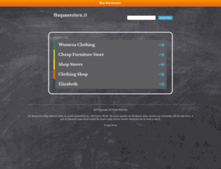 thequeenstore.it screenshot