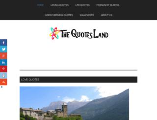 thequotesland.com screenshot