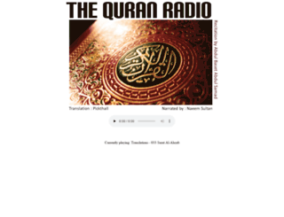 thequranradio.com screenshot