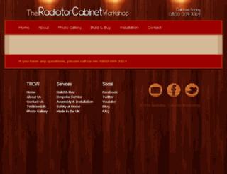 theradiatorcabinetworkshop.co.uk screenshot