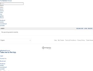therainbowvenues.eventgenius.co.uk screenshot