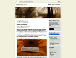 therandompath.wordpress.com screenshot