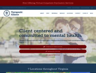 therapeuticalliancellc.com screenshot