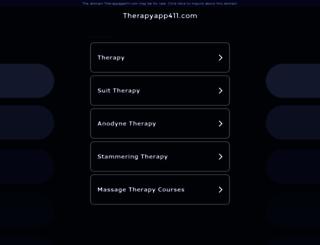 therapyapp411.com screenshot