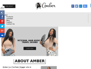 therealamber.com screenshot