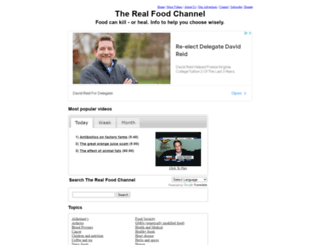 therealfoodchannel.com screenshot