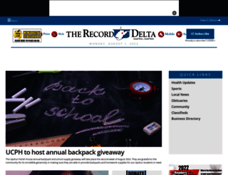 therecorddelta.com screenshot