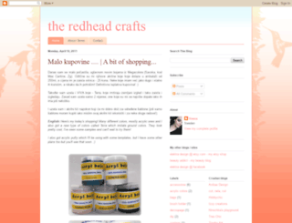 theredheadcrafts.blogspot.com screenshot