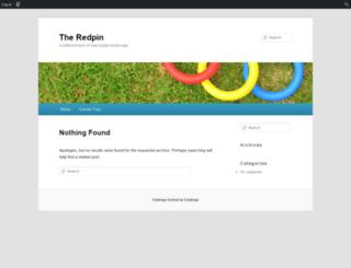 theredpinblog.edublogs.org screenshot