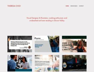 theresa-choi.squarespace.com screenshot
