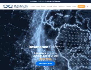 theresonanceproject.org screenshot