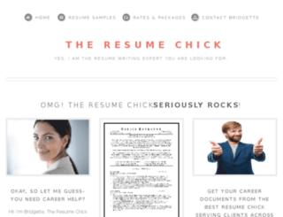 theresumechick.com screenshot