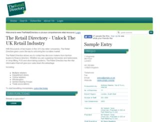 theretaildirectory.co.uk screenshot