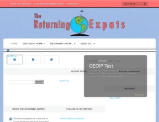 thereturningexpats.com screenshot