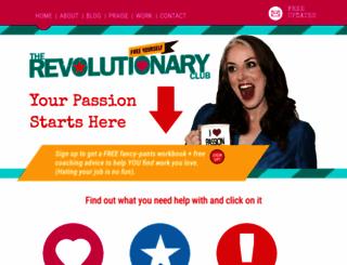 therevolutionaryclub.com screenshot