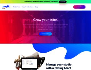 theridehouse.zingfit.com screenshot