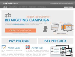 therightleads-client.net screenshot