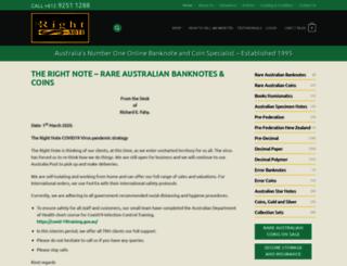 therightnote.com.au screenshot