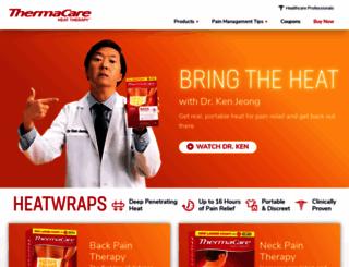 thermacare.com screenshot