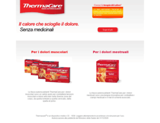 thermacare.it screenshot