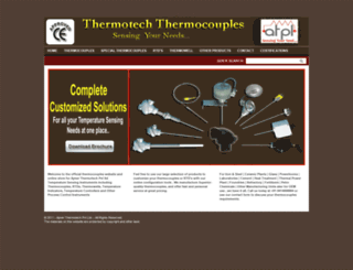 thermocouplesindia.in screenshot