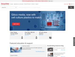 thermofisher.com.au screenshot