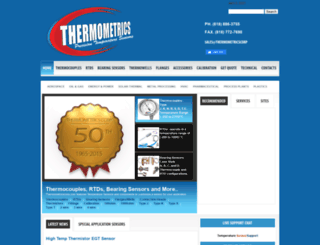thermometricscorp.com screenshot
