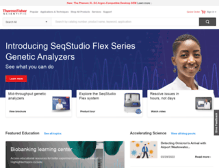 thermoscientific.com screenshot