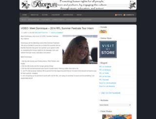 therockforlife.wordpress.com screenshot