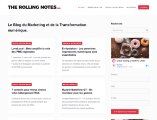 therollingnotes.com screenshot