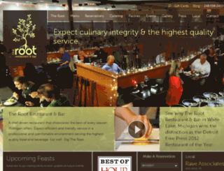 therootrestaurant.com screenshot