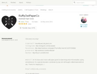 therufflyowl.etsy.com screenshot