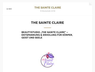 thesainteclaire.com screenshot