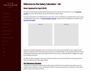 thesalarycalculator.co.uk screenshot