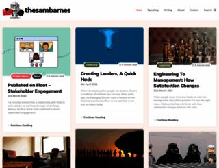 thesambarnes.com screenshot