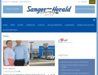 thesangerherald.com screenshot