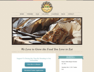 thesantarosafarmersmarket.com screenshot