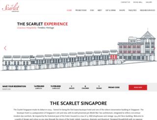 thescarlethotels.com screenshot