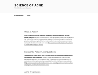 thescienceofacne.com screenshot
