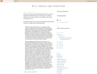 thesearewritten.blogspot.com screenshot