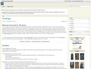 thesecret.pbworks.com screenshot