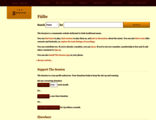 thesession.org screenshot