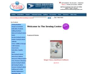 thesewingcenter.com screenshot