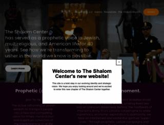 theshalomcenter.org screenshot