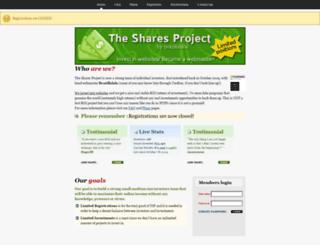 thesharesproject.info screenshot