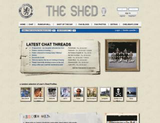 theshed.chelseafc.com screenshot